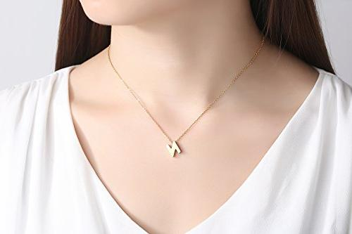 TOUGHARD Alphabet Necklace, Delicate Jewelry for Teens Women Children