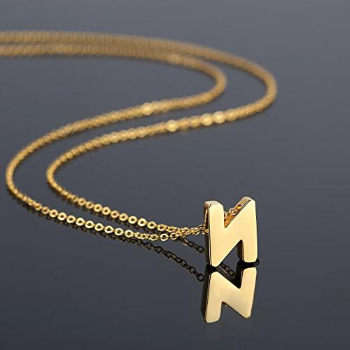 TOUGHARD Polished Tiny Initial Alphabet Delicate Jewelry