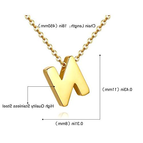 TOUGHARD Polished Initial Alphabet Jewelry for Women