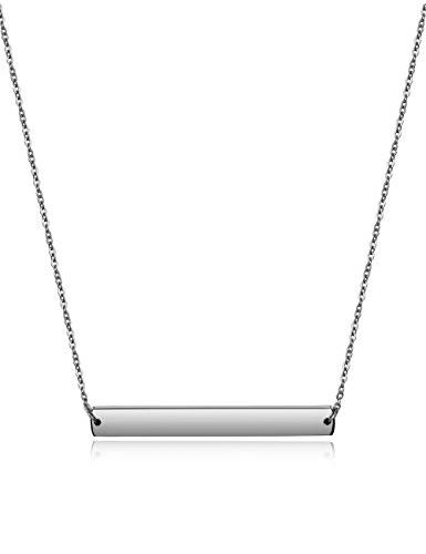 Wistic Bar Necklace Stainless Steel Gold Plated Adjustable E