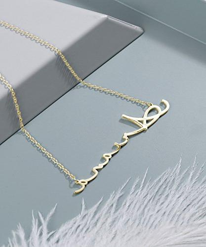 Yoke Style Custom Necklace Personalized, Customized Charm Necklace Gift for Women