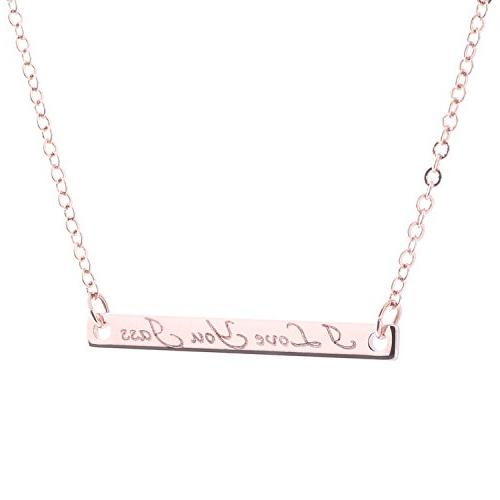 a name bar necklace engraving