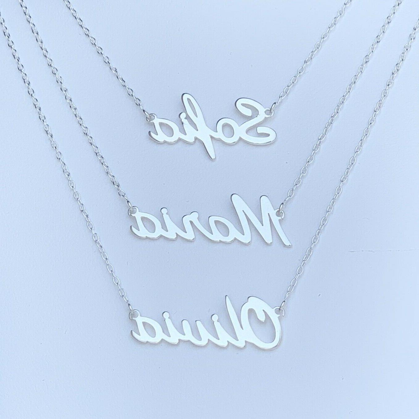 ANY Name Plate Personalized Silver 925 Pendant
