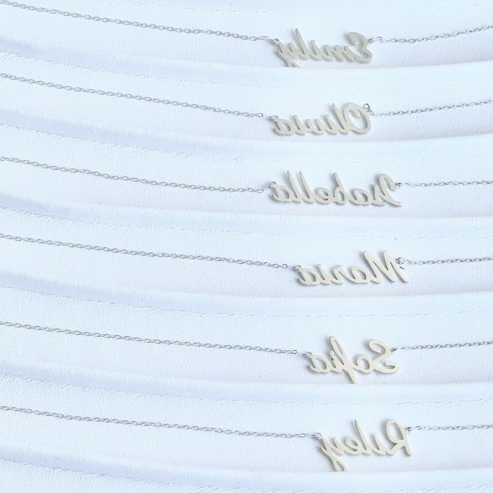 ANY Name Necklace Personalized 925