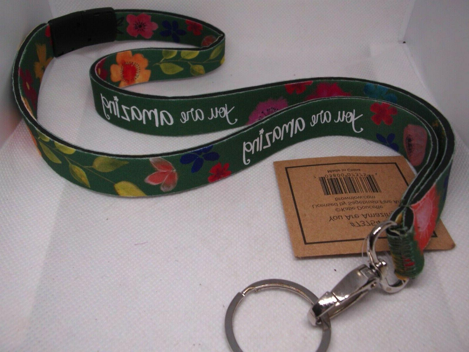 KATIE DOUCETTE ART ARE AMAZING Name Holder Lanyard
