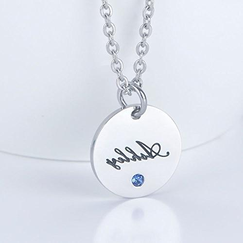 Bala Ashley Name Personalized with Silver Disc Pendant Carved Circle