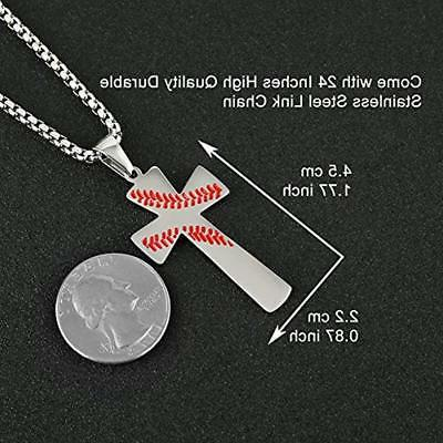 Baseball Necklaces I CAN DO ALL THINGS Bible Steel