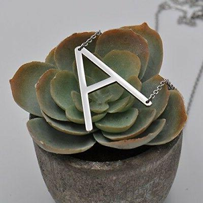 HUAN Big Initial A Necklaces Jewelrys Name