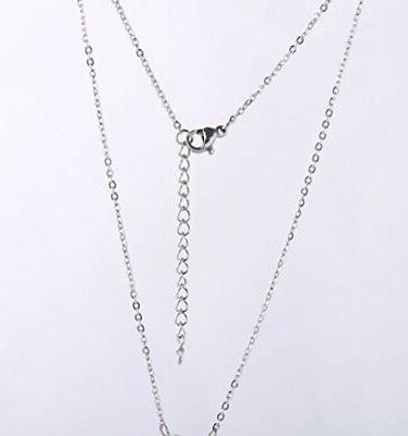 HUAN Big Initial A Necklaces Stainless Steel Jewelrys