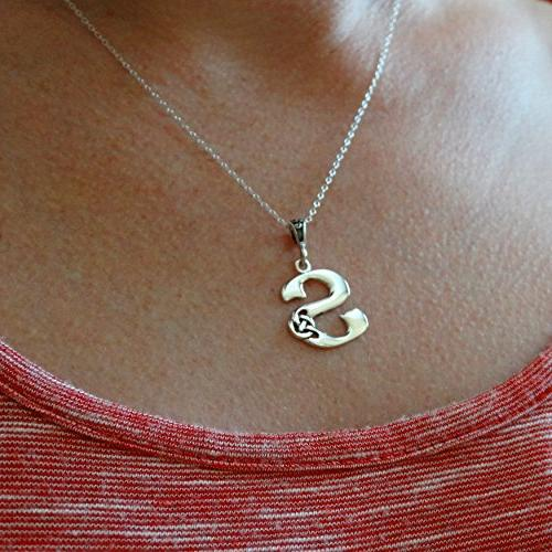 FashionJunkie4Life Initial S Necklace 925 Sterling -