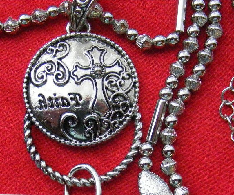 Christian Pendant ID Key Necklace NEW