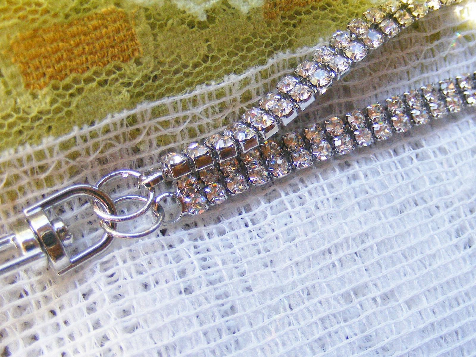 Clear Prong Badge Key Necklace