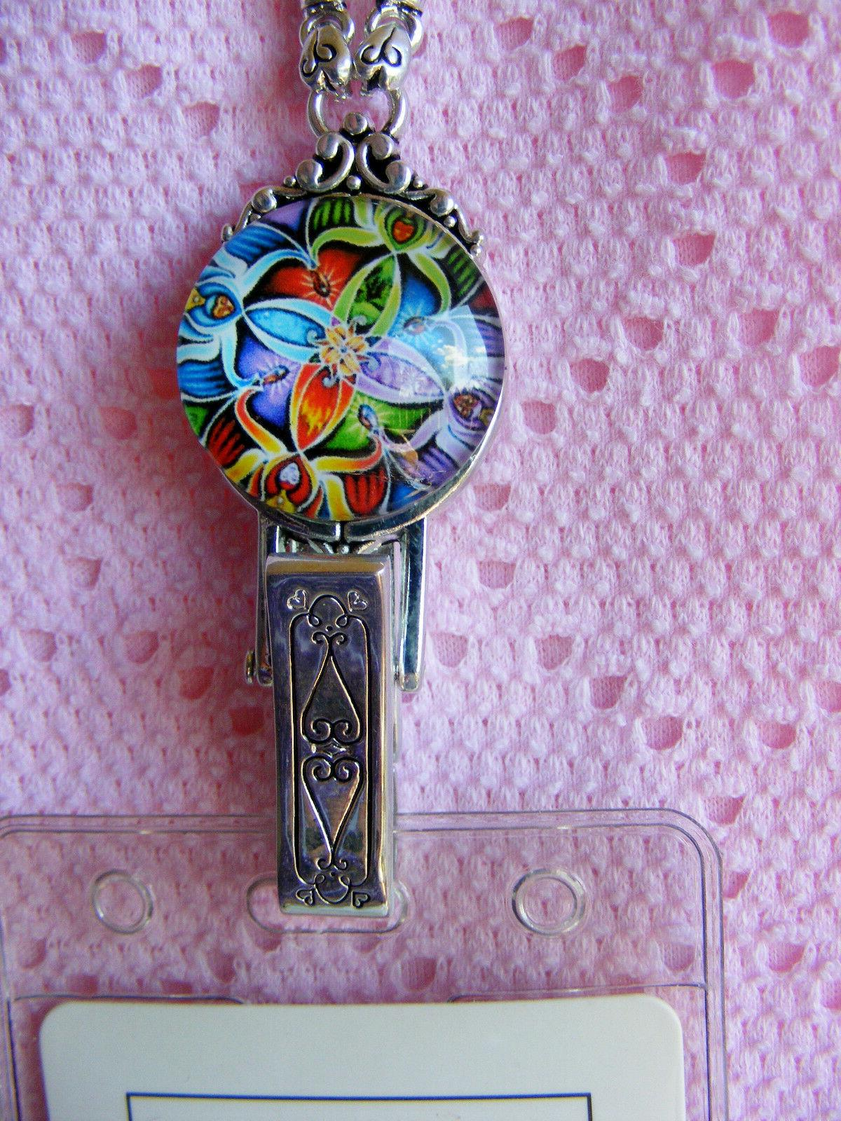 Colorful Kaleidoscope ID Name Necklace