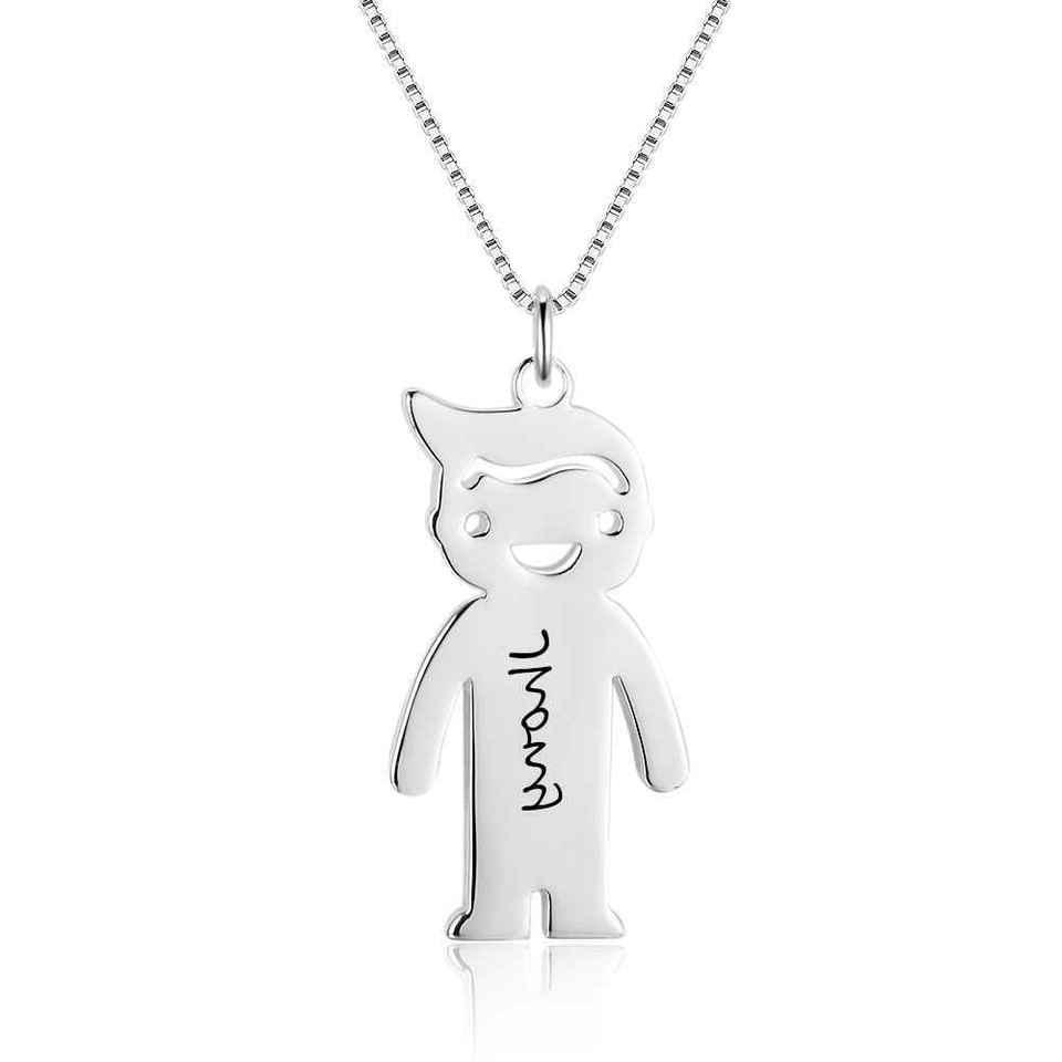 Personalized Boy Necklaces Pendant Custom Name Necklace Birt