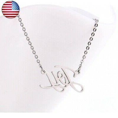 HUAN XUN Name Necklace Personalized