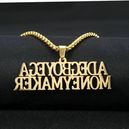 custom name necklace women or men fashion