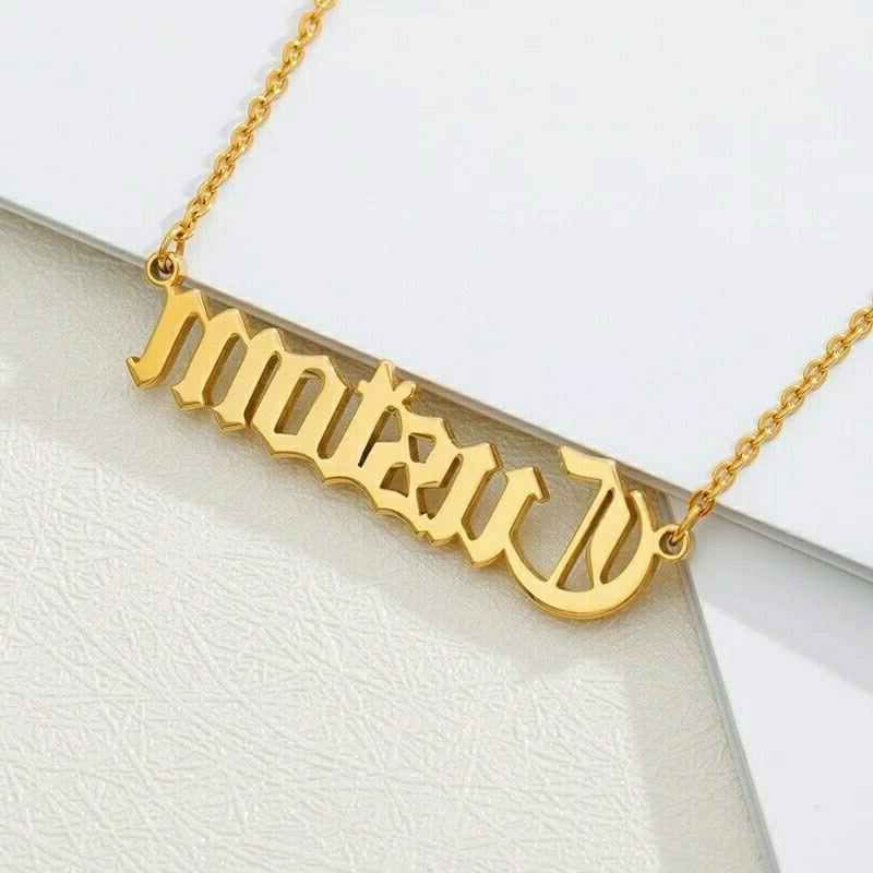 Custom Name English Personalized Jewelry Gift for Him Her