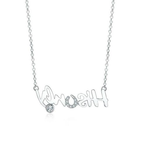 Personalized Infinity 2 Name Couple Necklace 925 Sterling Si