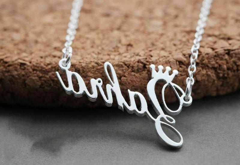 Customized Name Necklace Handmade Personalized Steel New