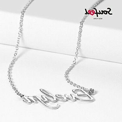 SOUFEEL Customized Necklace Style Name 925