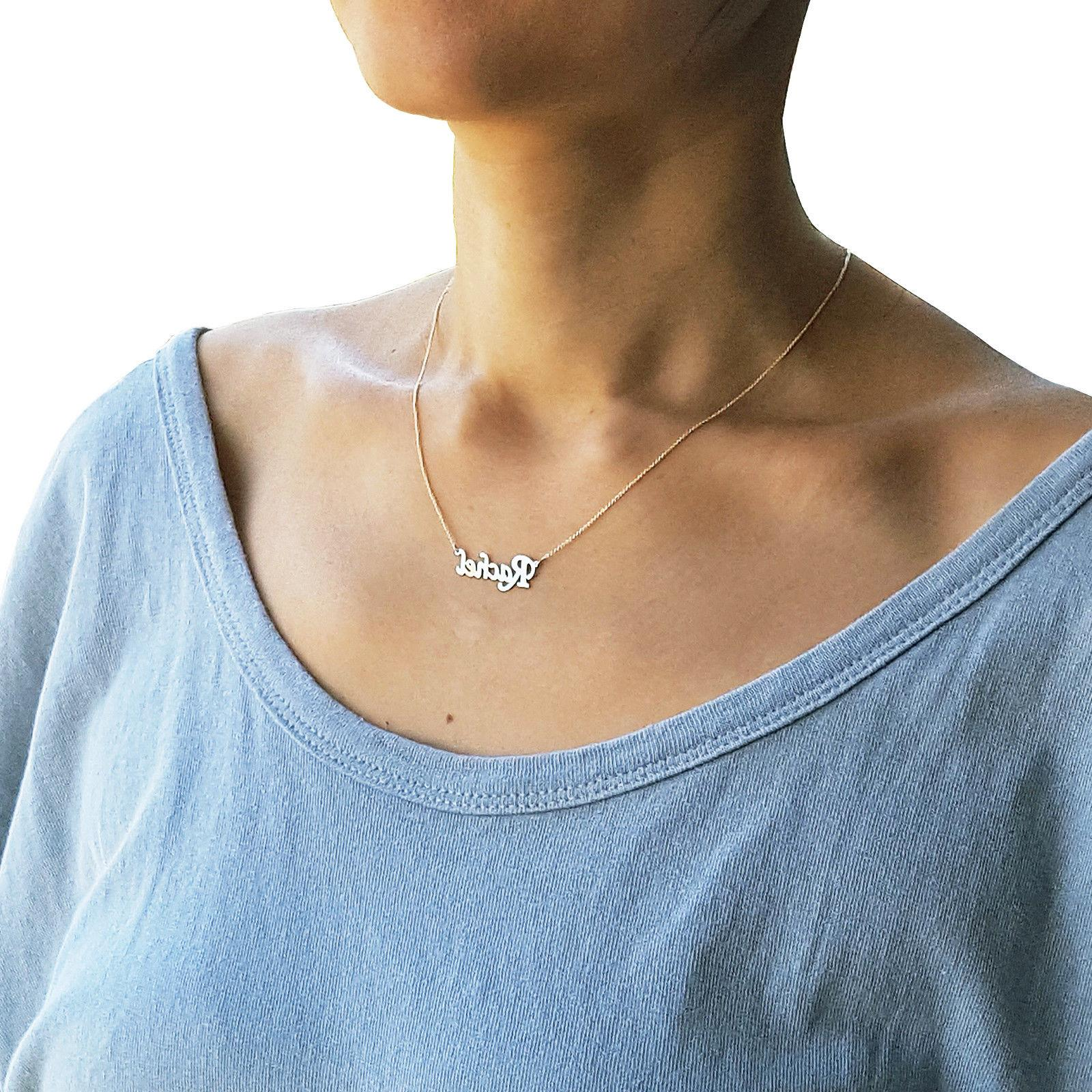 dainty 14k solid gold name necklace 1