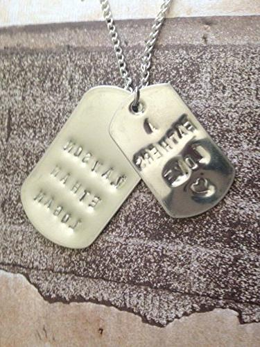 customizable names sayings, add with large tag an treat, hand-stamped