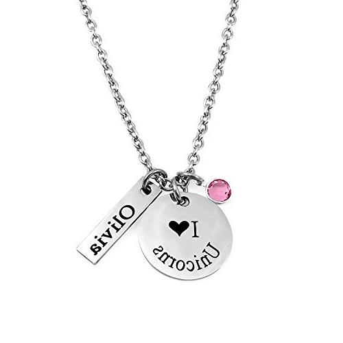 Engraved - Personalized - I Love Necklace -