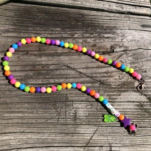 Face Mask Neon Necklace Lanyard