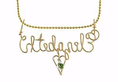 gold color handmade personalized name necklace