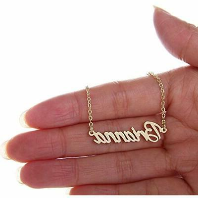 Aolo Gold Plated Cursive Names Friendship Jewelry Brianna Free Shipping