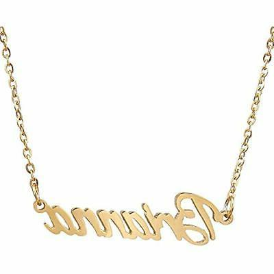 gold plated cursive names necklace friendship jewelry