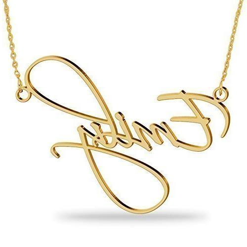gold plated name necklace personalized