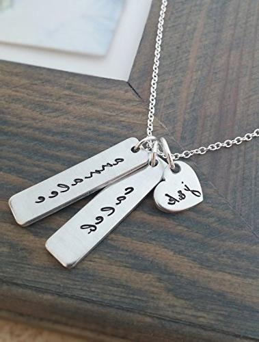 hand stamped personalized necklace