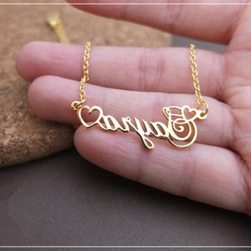Handmade Personalized With Nameplate <font><b>Necklace</b></font> Women Men Customized Jewelry <font><b>Kids</b></font> Birthday Gift