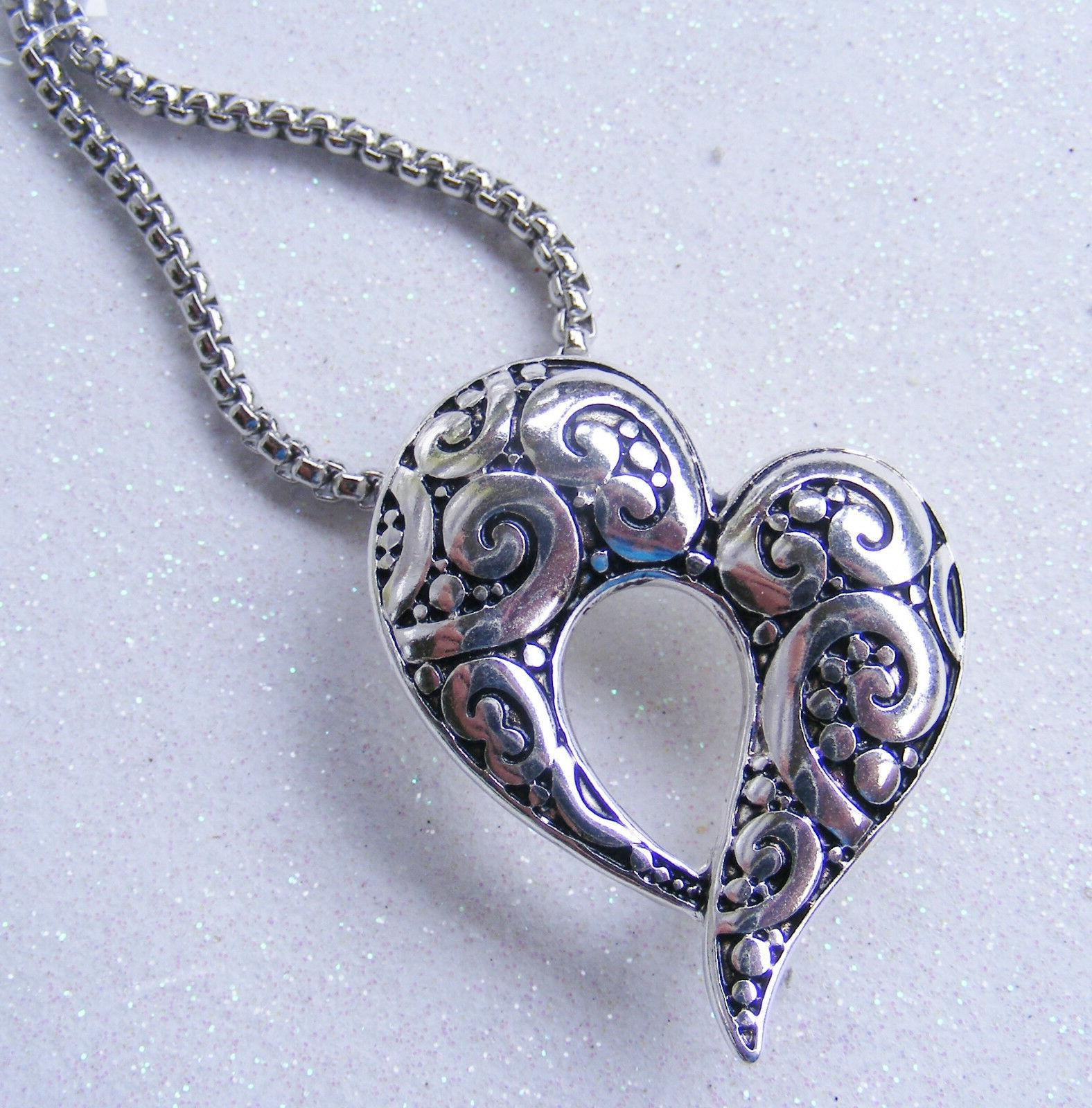 Heart Scroll Tag ID Card Holder Necklace Cruise