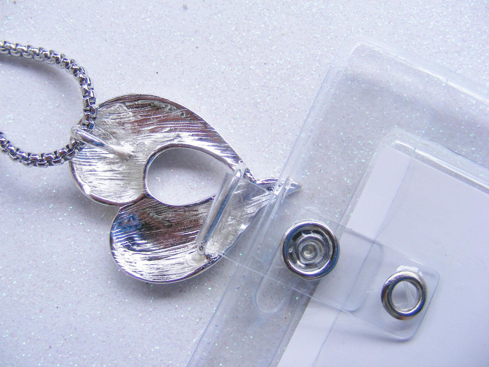 Heart Scroll Tag Card Holder Necklace Lanyard Cruise