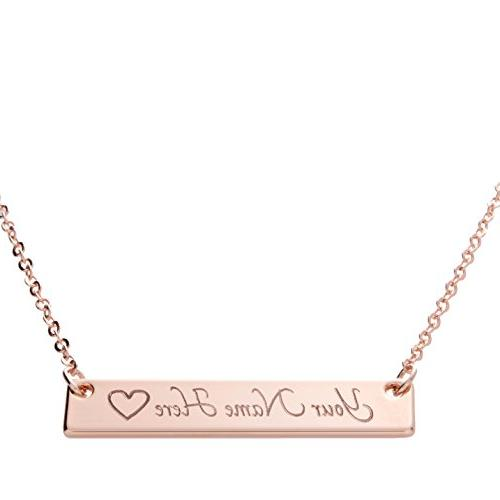 i1it Customizable Your Name Bar Necklace Same Day Shipping G