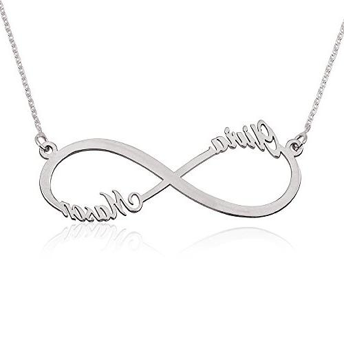 infinity name necklace custom made with any