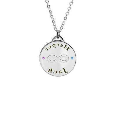 infinity two names necklace engraving with swarovski