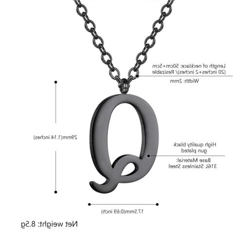 PROSTEEL Initial Letter Necklace Men Personalized