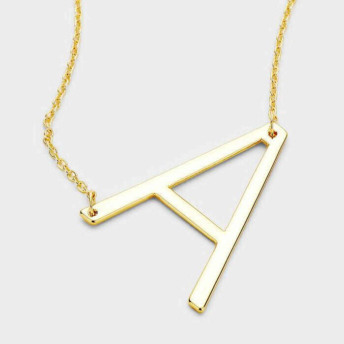 initial necklace monogram 1 75 large letter