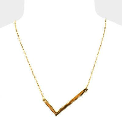 initial necklace side letter l thin large