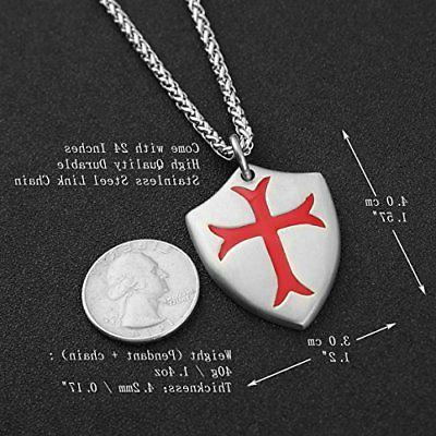 Necklace Joshua 1:9 Stainless Steel +