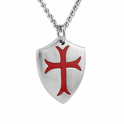 Knights Necklace Joshua Shield Stainless Steel Chain