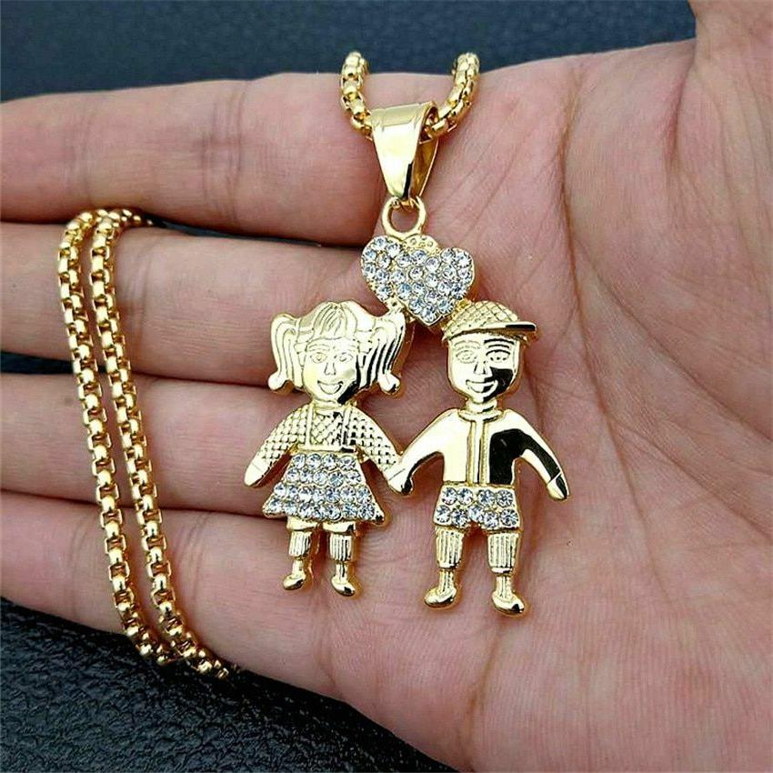 Couple Pendant Necklaces Lovers Boy Girls Jewelry Necklace S