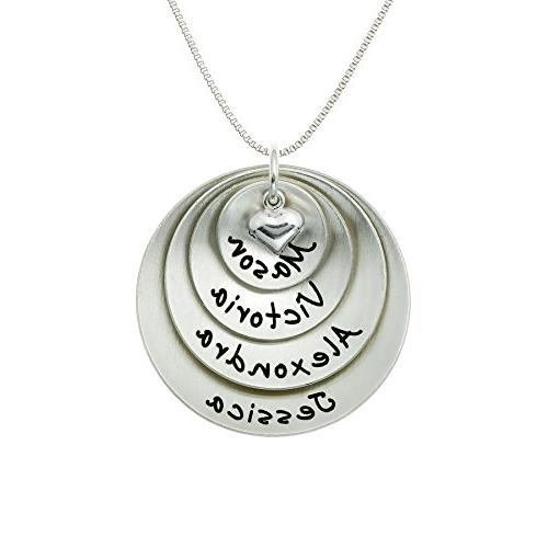 lucky four personalized sterling silver name necklace