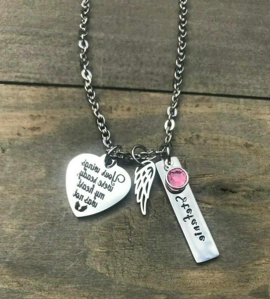 Memorial necklace name loss of son Mother jewelry