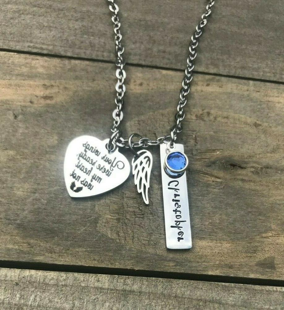 Memorial necklace Personalized loss of daughter Mother Mom jewelry
