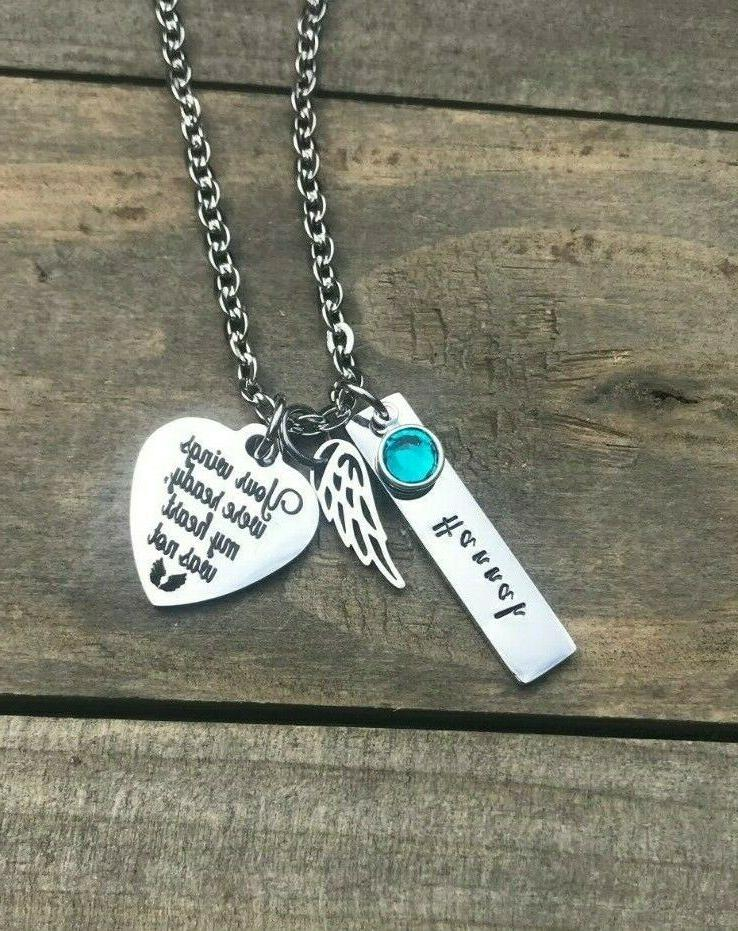 memorial necklace personalized name loss of daughter