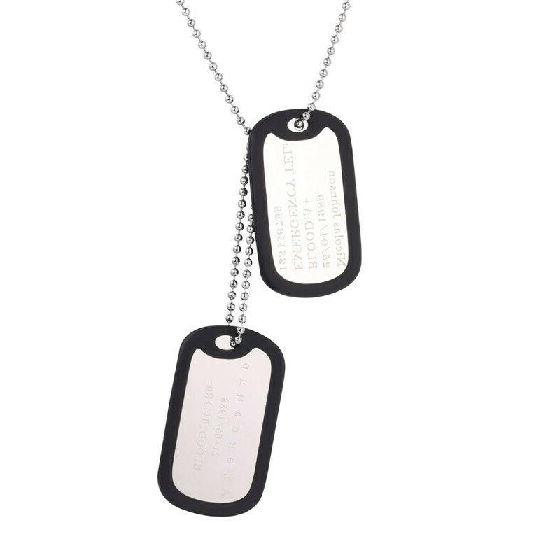 Mens Dog Tags Personalized Name Pendant Jewelries For Gifts
